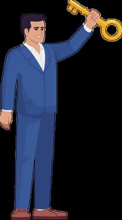 Business success mentorship key Illustration