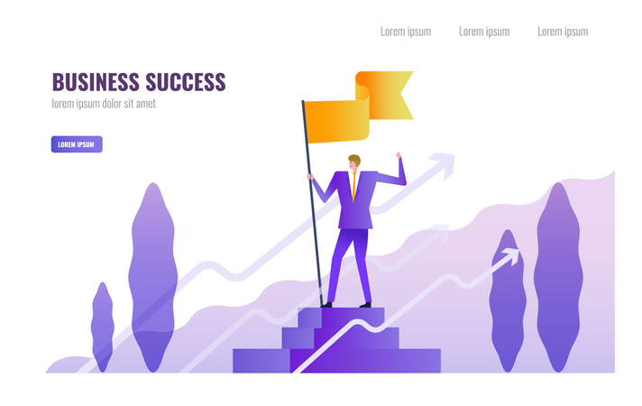 Business Successful and  Leadership concept Illustration
