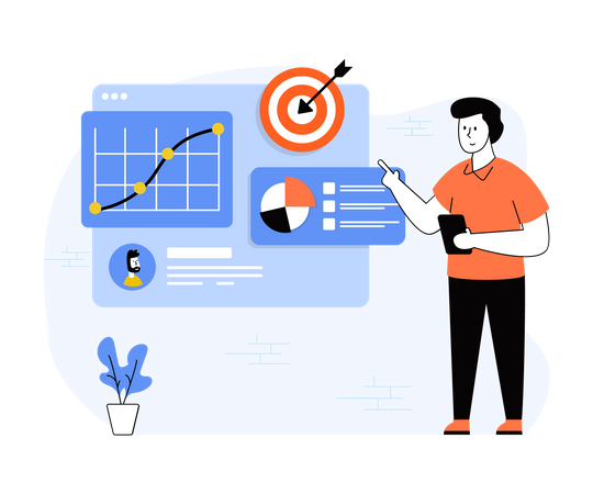 Business Target Illustration