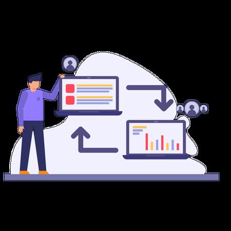 Business tasks Illustration