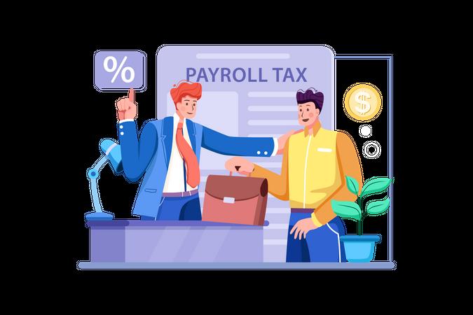 Business Tax Filing Illustration