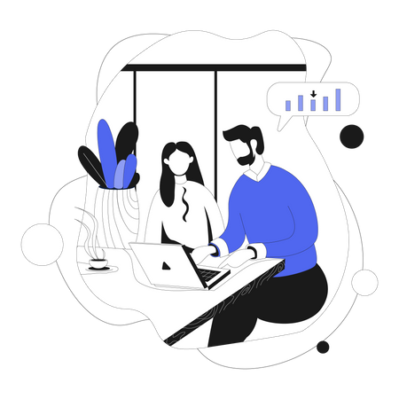 Business team discussing issues Illustration