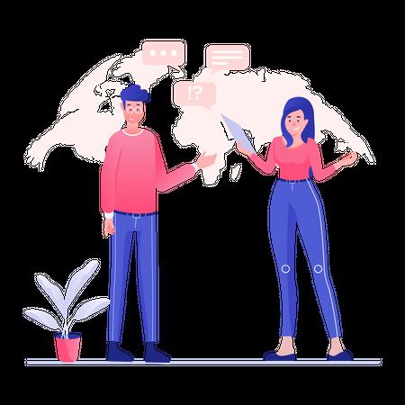 Business Team Discussion Illustration