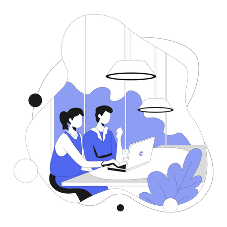 Business team doing discussion Illustration