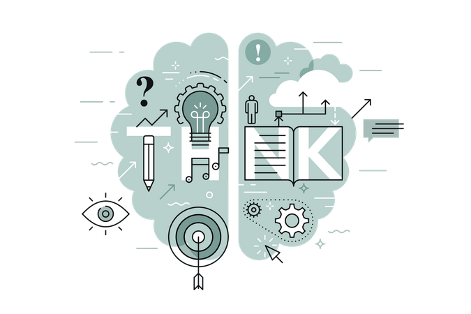 Business Think Illustration