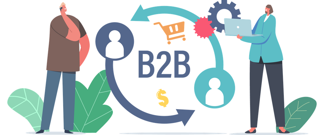 Business to Business Marketing Strategy Illustration