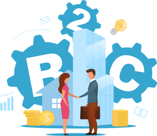 Business-to-consumer Illustration