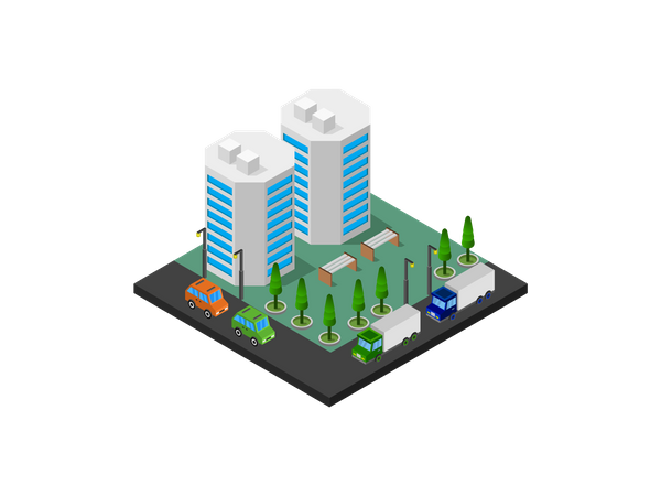 Business tower Illustration