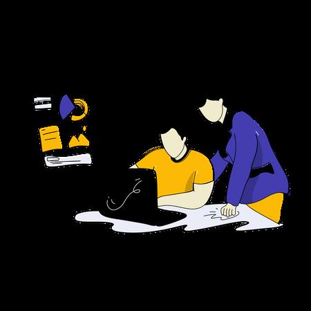 Business Training Illustration