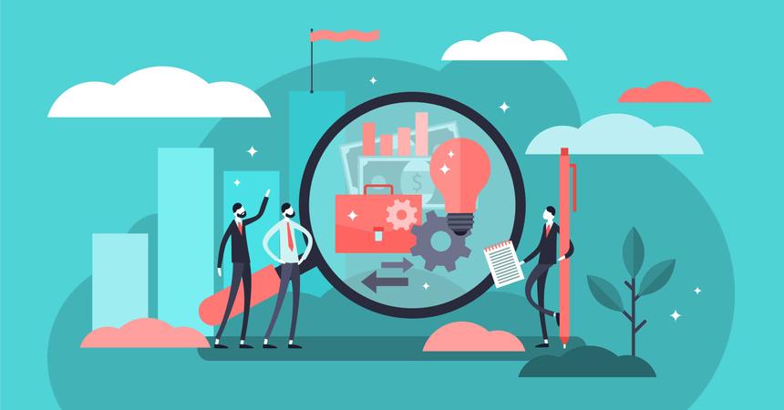 Business transparency Illustration