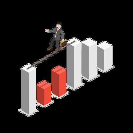 Business tricks Illustration
