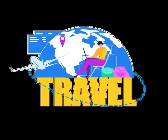 Business Trip Planning Illustration