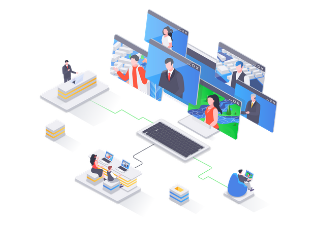 Business Video conference Illustration