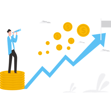Business vision Illustration