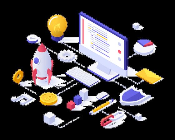 Business website Illustration