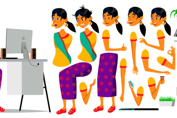 Business Woman Character Illustrations