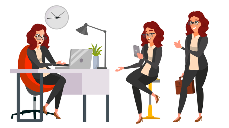 Business Woman Character Illustration