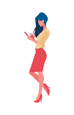 Business woman doing online meeting Illustration