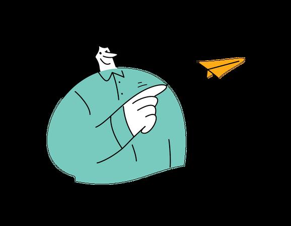 Business woman sending mail Illustration