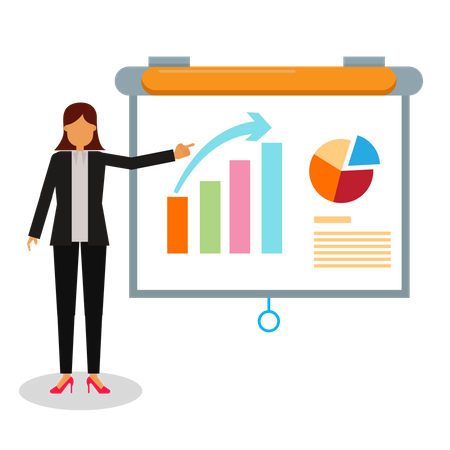 Business women giving a presentation Illustration
