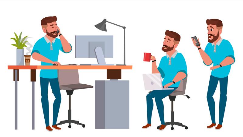Businessman Character Illustration