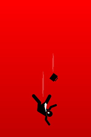 Businessman fall into abysmal Illustration