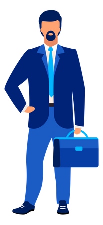 Businessman going to office Illustration