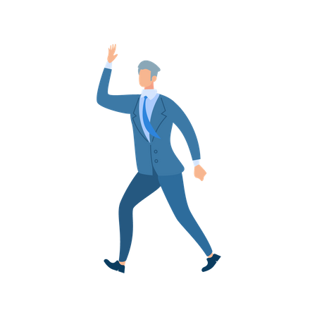 Businessman hand up Illustration