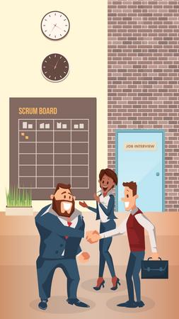 Businessman handshaking after successful deal Illustration