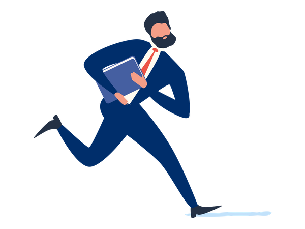 Businessman in hurry Illustration