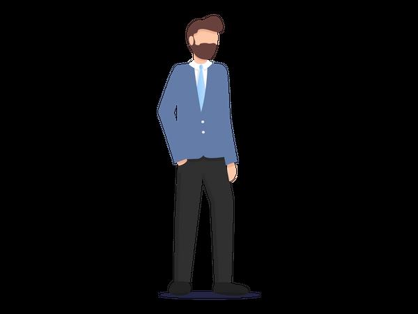 Businessman In professional wear Illustration