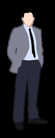 Businessman in suit Illustration