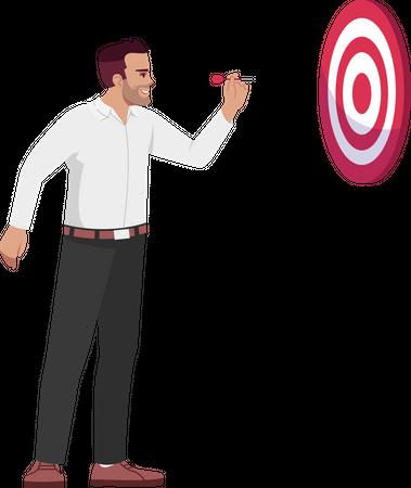 Businessman setting goals Illustration