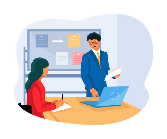 Businessman task Management Illustration