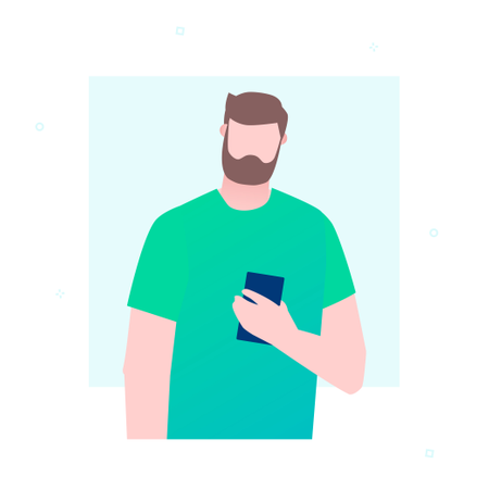 Businessman With A Smartphone Illustration