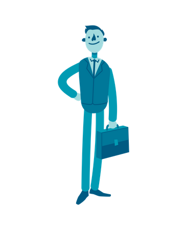 Businessman with Briefcase Illustration