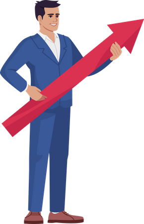 Businessman with Business Strategy Illustration