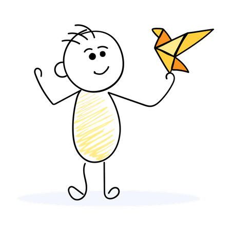 Businessman with creative idea Illustration