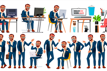 Office Worker Illustration Pack