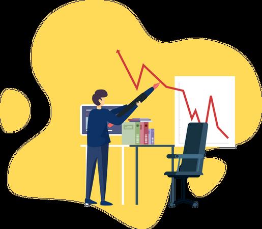 Businessmen make a plan for growing business Illustration