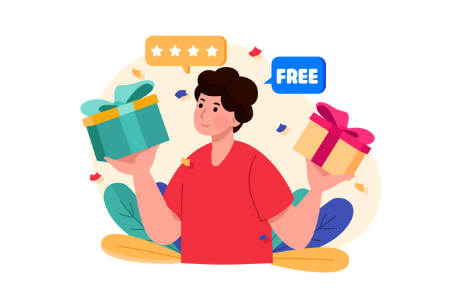 Buy One Get One Free Offer Illustration