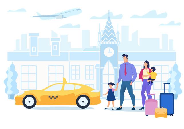 Cab Booking Application Illustration