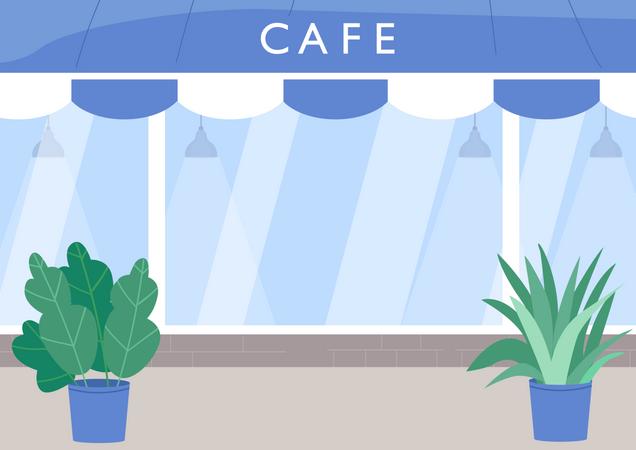 Cafe exterior Illustration