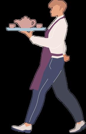 Cafe waiter Illustration