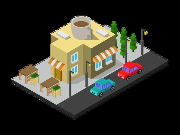 Cafeteria Illustration