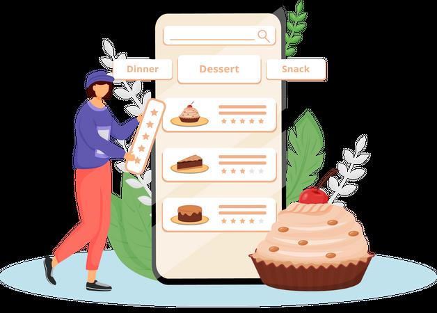 Cakes taste and quality feedback Illustration