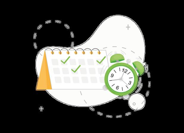 Calendar event reminder Illustration