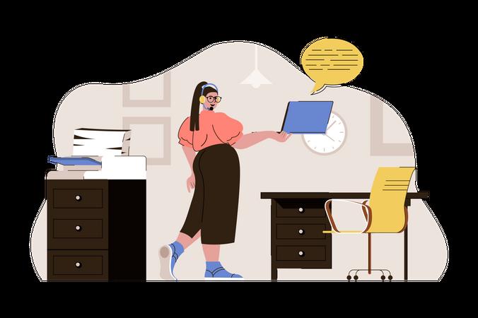 Call center employee Illustration