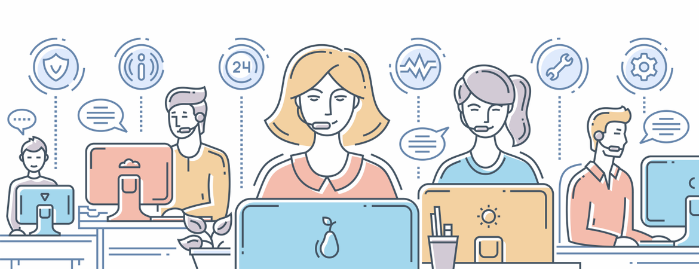 Call Center Support Illustration