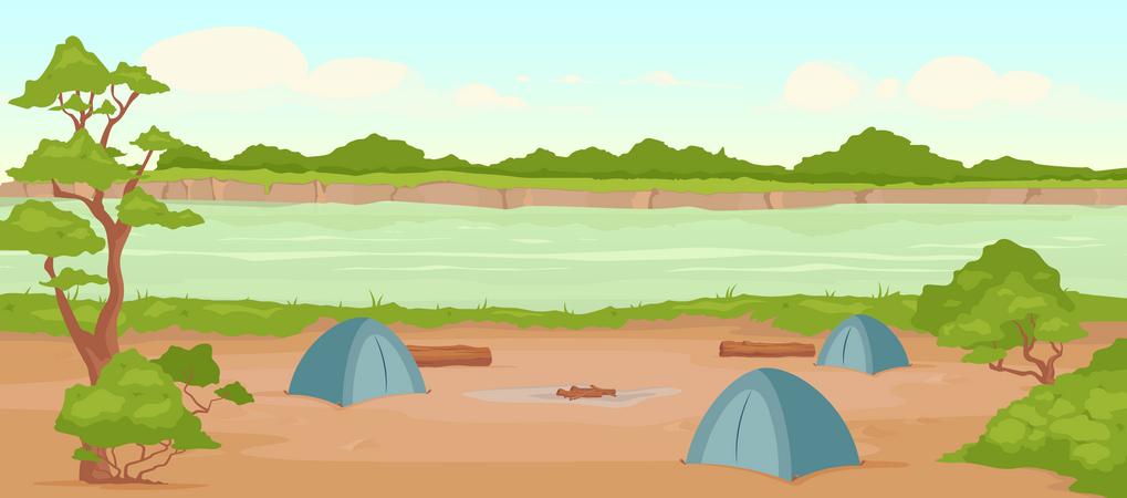 Campground Illustration